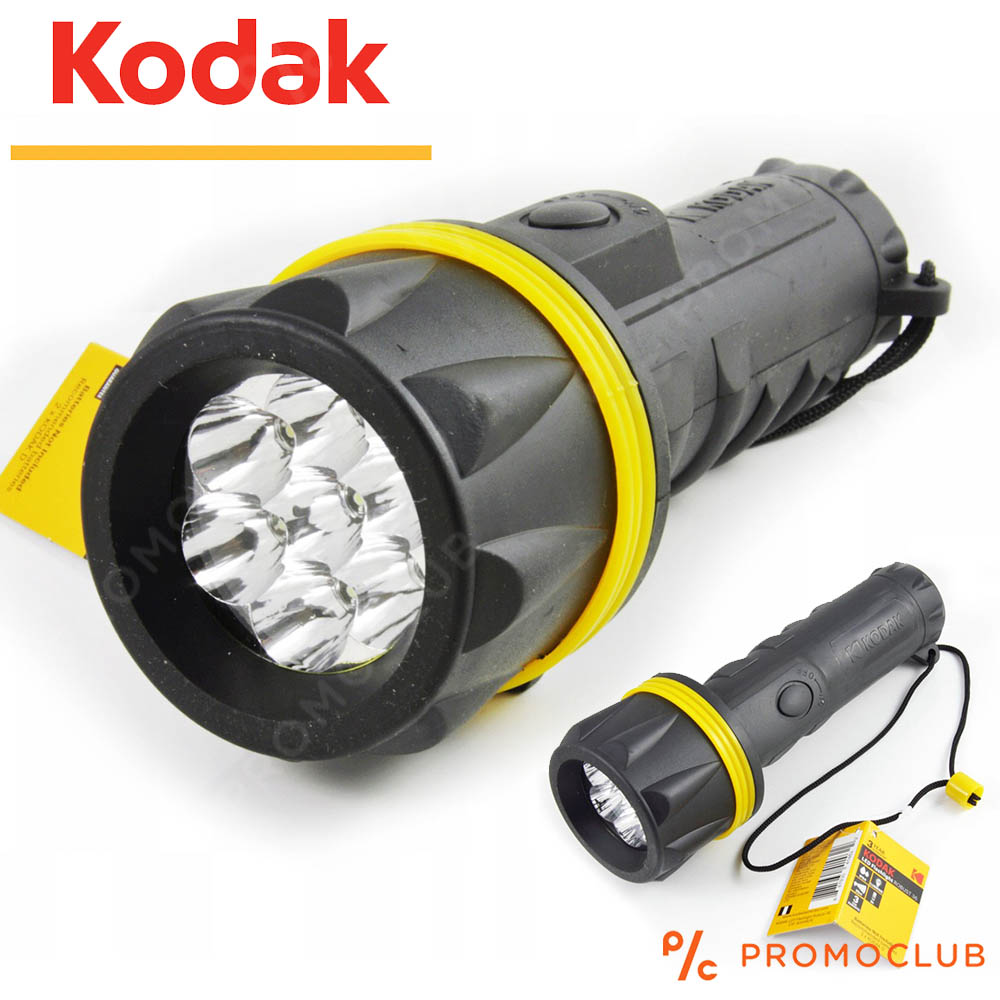 Гумиран LED фенер KODAK ROBUST, сигурен, водо- и удароустойчив