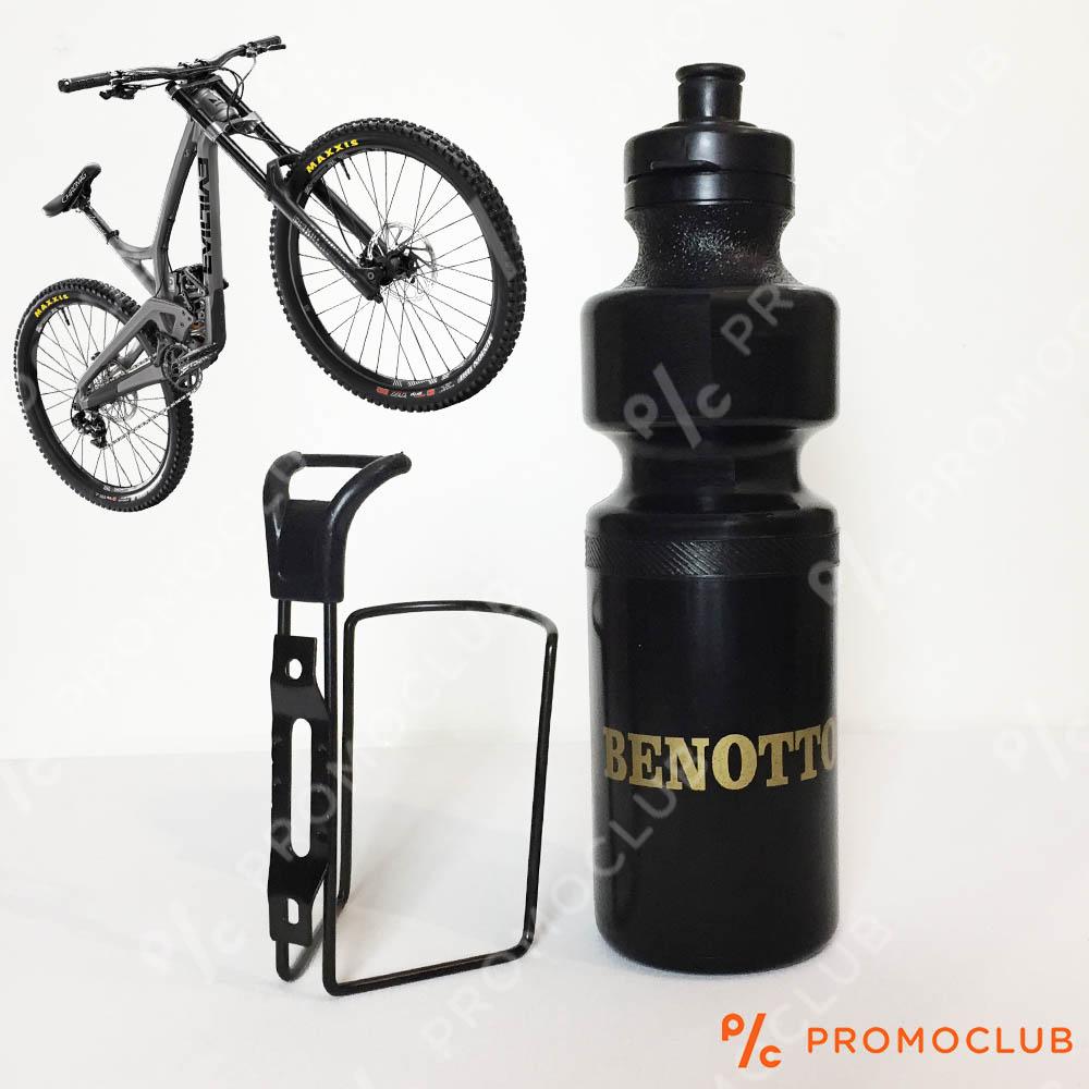 Спортна вело бутилка BENOTTO със стойка за велосипед, 800 ml.
