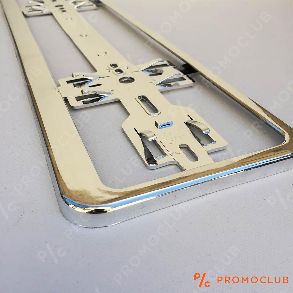 CHROME CAR PLATE: хромна поставка за регистрационен номер за МПС