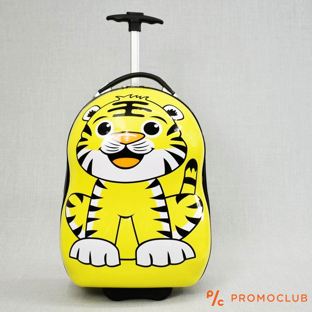 Поликарбонов детски куфар 31799 TIGER, 16 инча, 2 колела, изтегляща се дръжка