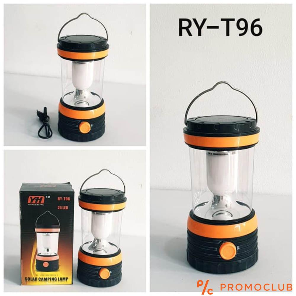 Голяма соларна LED къмпинг лампа RY-T96,  мощна, с вградени батерии