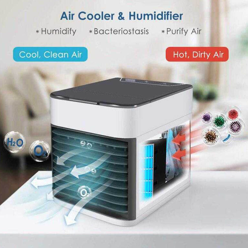 Нов портативен охладител с вода 3in1 COOLAIR ULTRA. Охлажда, овлажнява, пречиства въздуха