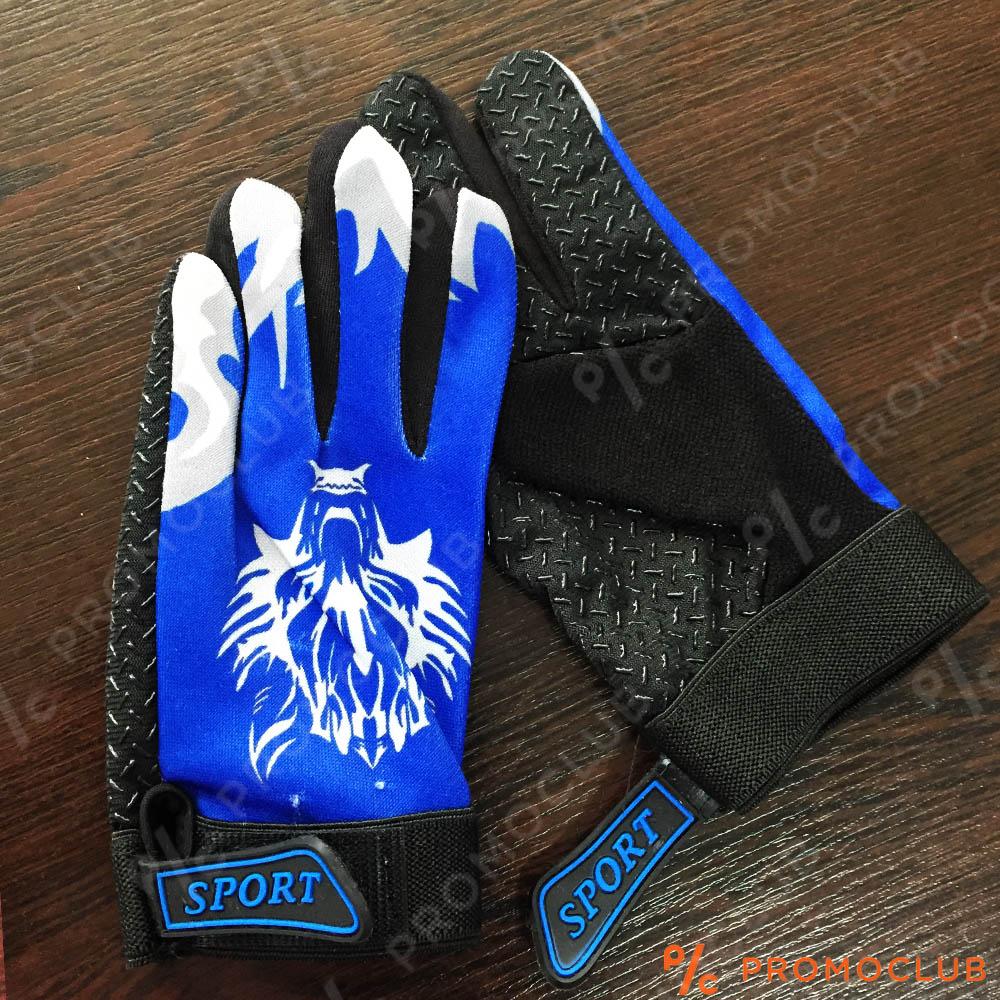 Детски вело-мото ТОП ръкавици WOLF SPORT CLUB BLUE,  4-10 г,