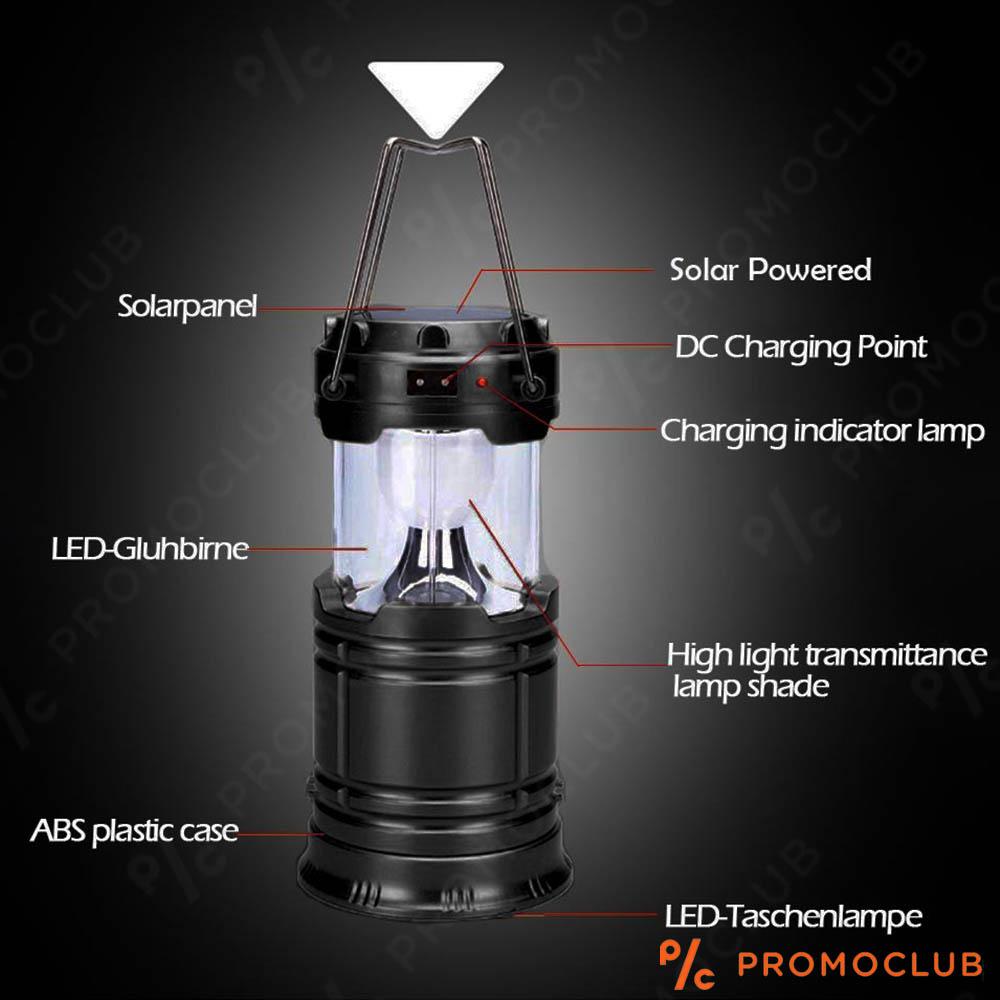Соларна къмпинг лампа-прожектор SX-5800T