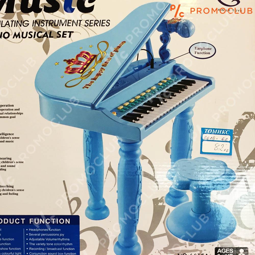 Уникален пиано сет с микрофон и стол интерактивно и с много функции, 3+