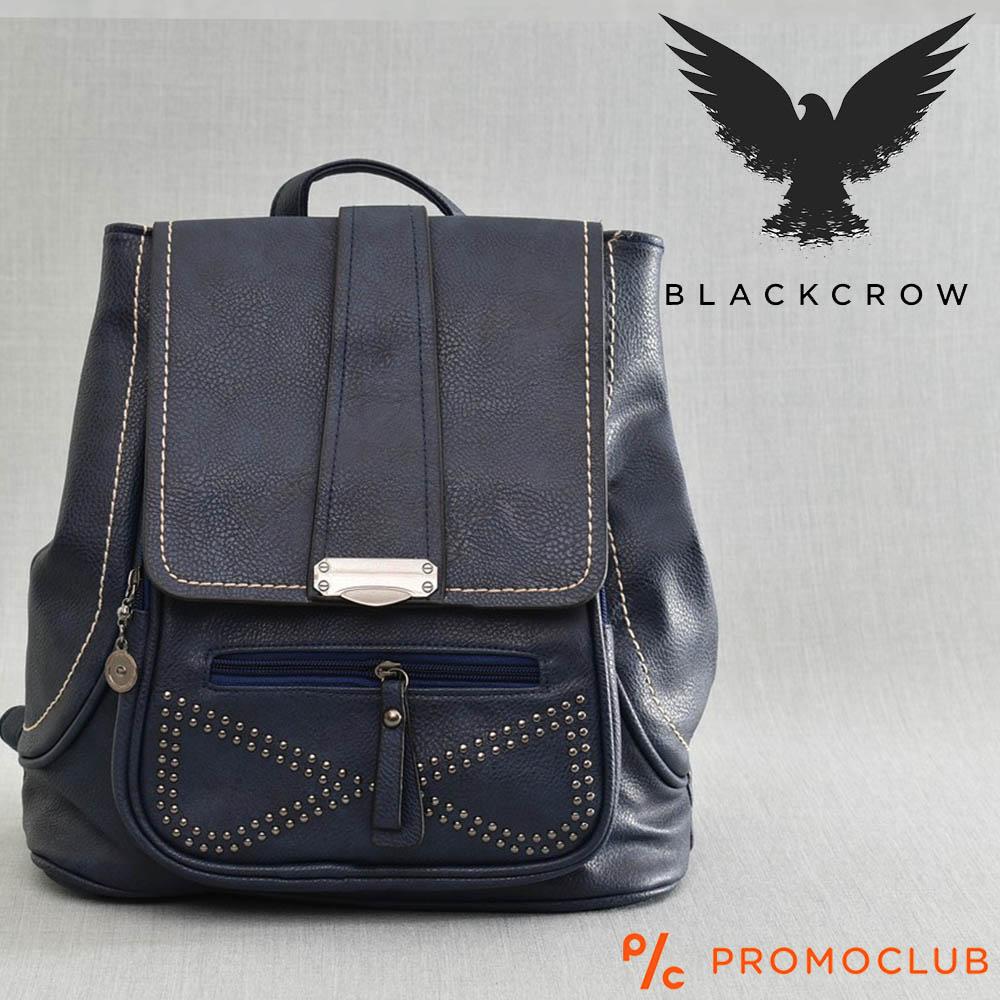 Дамска раница BLACK CROW 97588, синя еко кожа