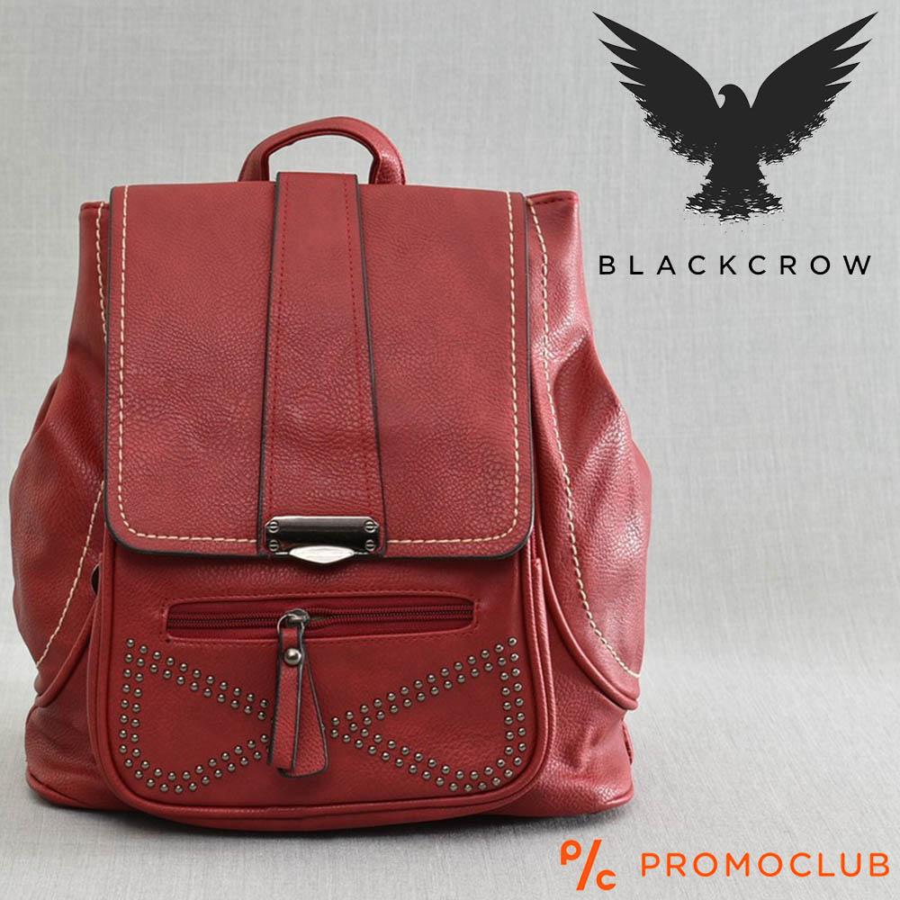 Дамска раница BLACK CROW 97588, червена еко кожа