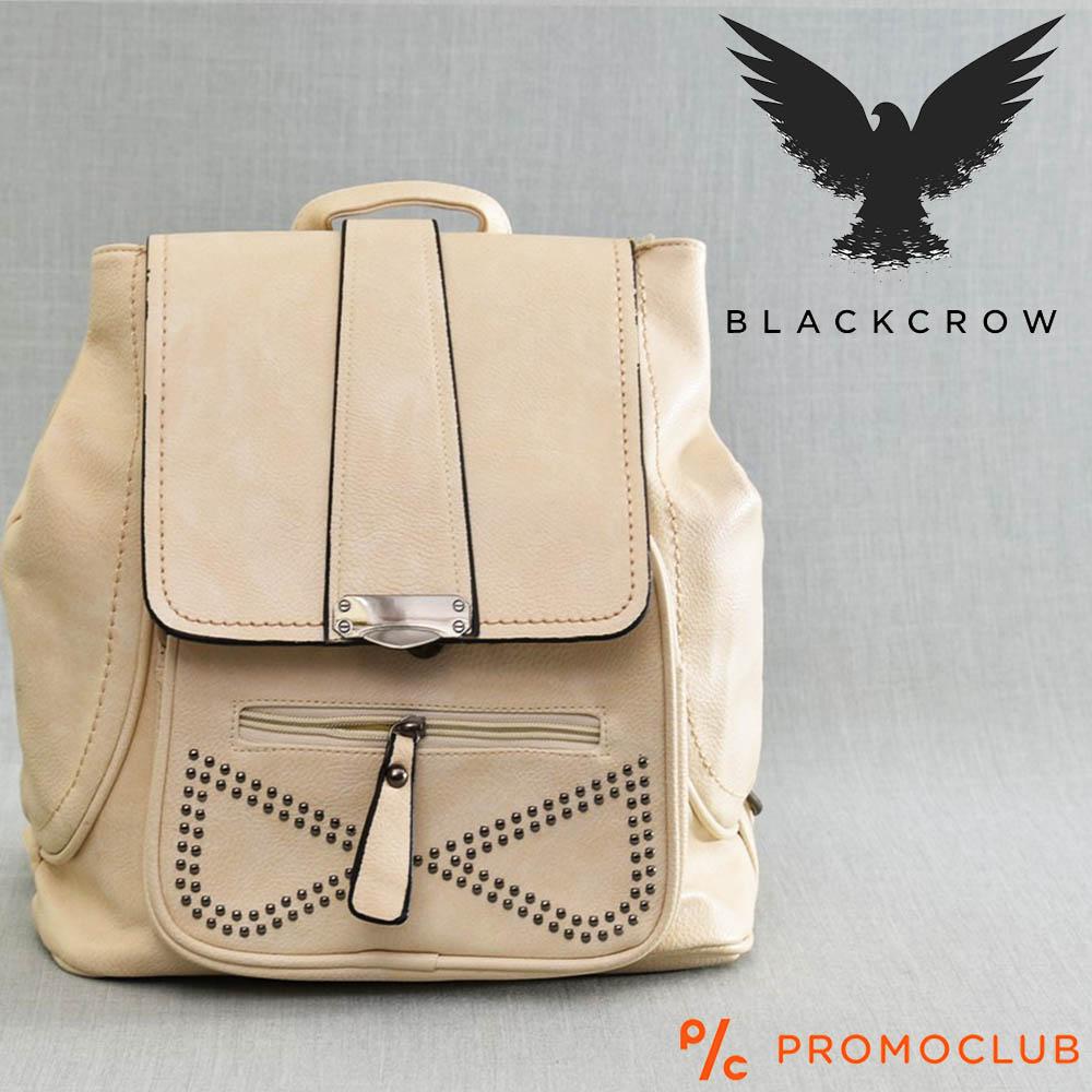 Дамска раница BLACK CROW 97588, бежова еко кожа