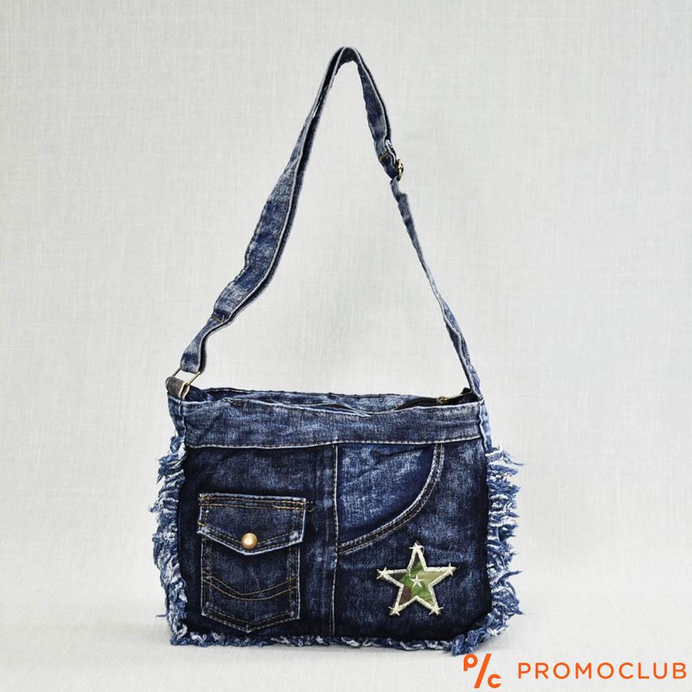 Denim Jeans BAG  11364-10 STAR - дамска чанта за през рамо