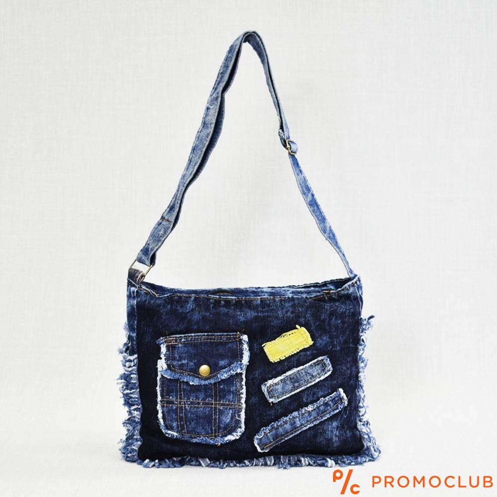Denim Jeans BAG  11364-4 DARK POCKET - дамска чанта за през рамо