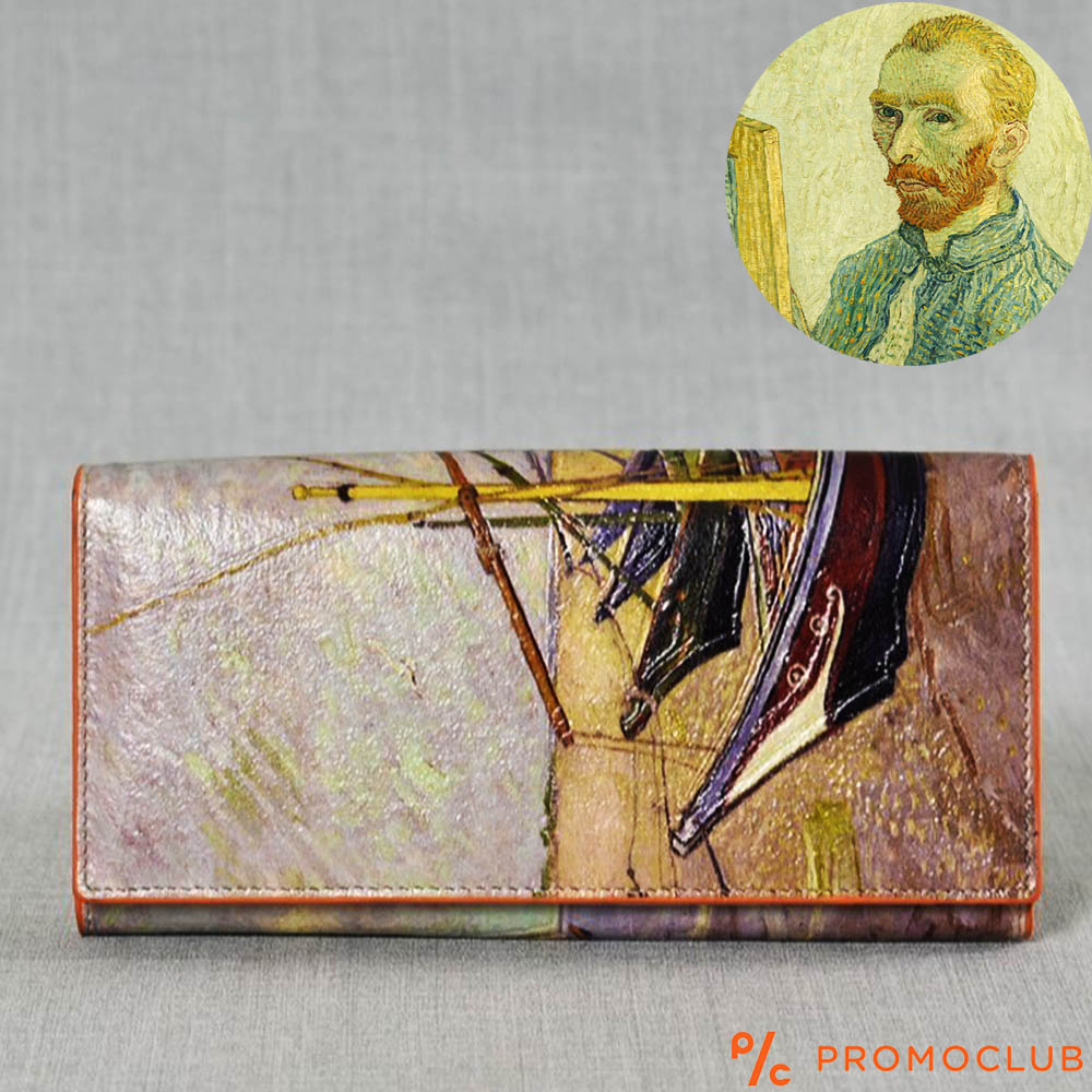 ЛУКС портфейл Ван Гог от естествена кожа и ръчна изработка, 456-6