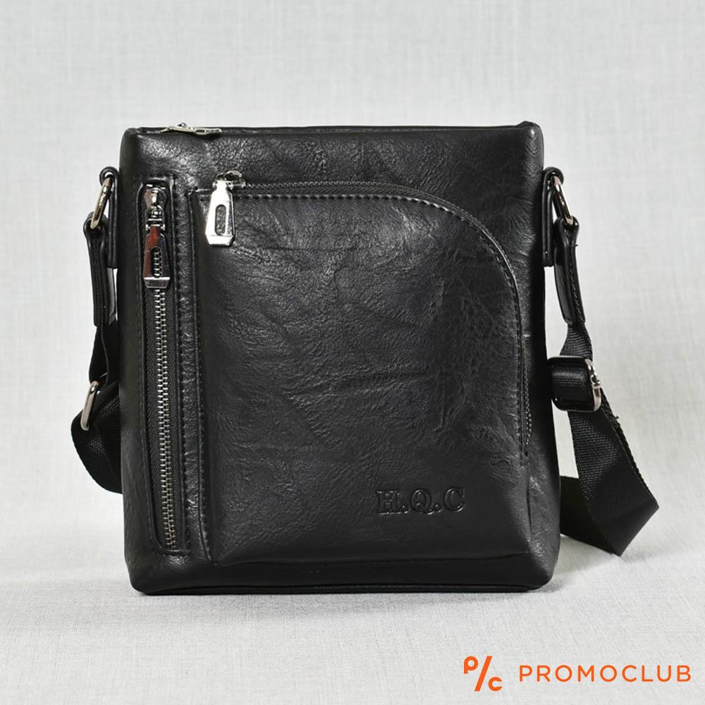 Луксозна мъжка чанта HQC 3101-2 за през рамо, еко кожа