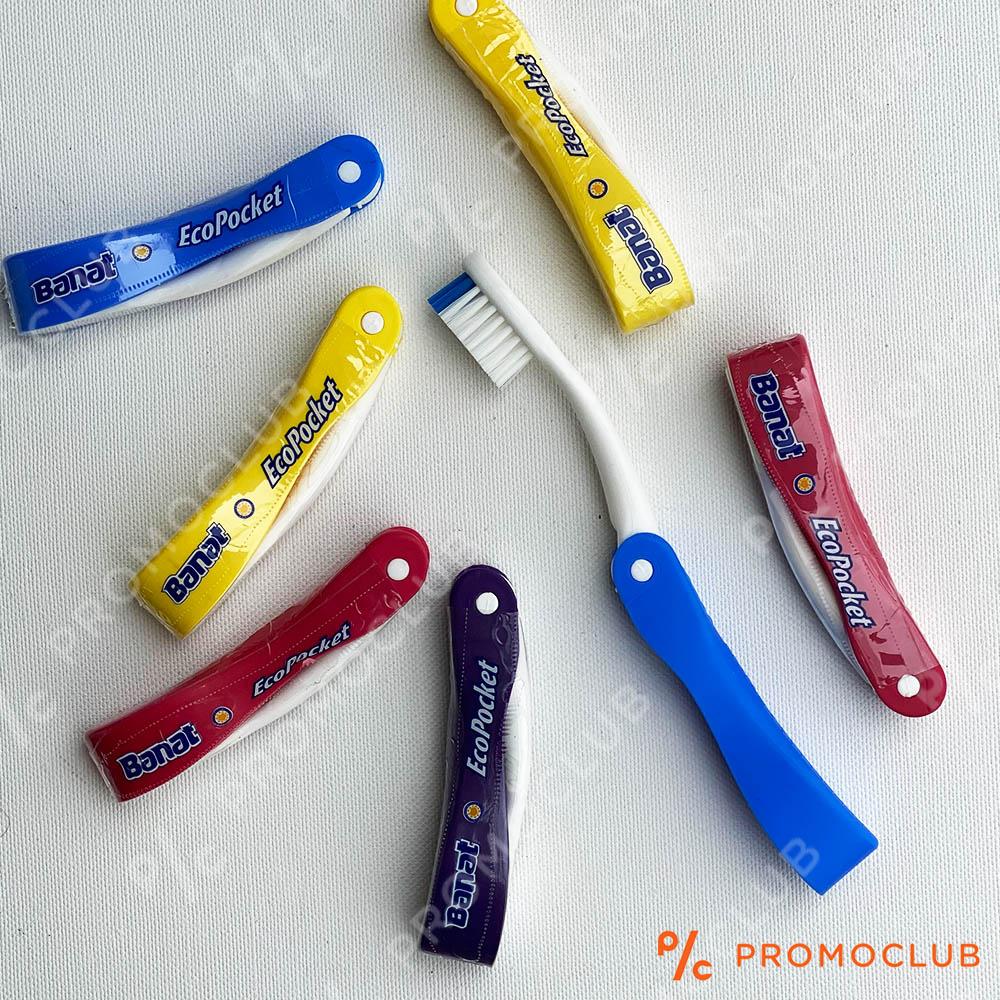 Сгъваема травел четка за зъби, компактна и защитена, винаги с теб
