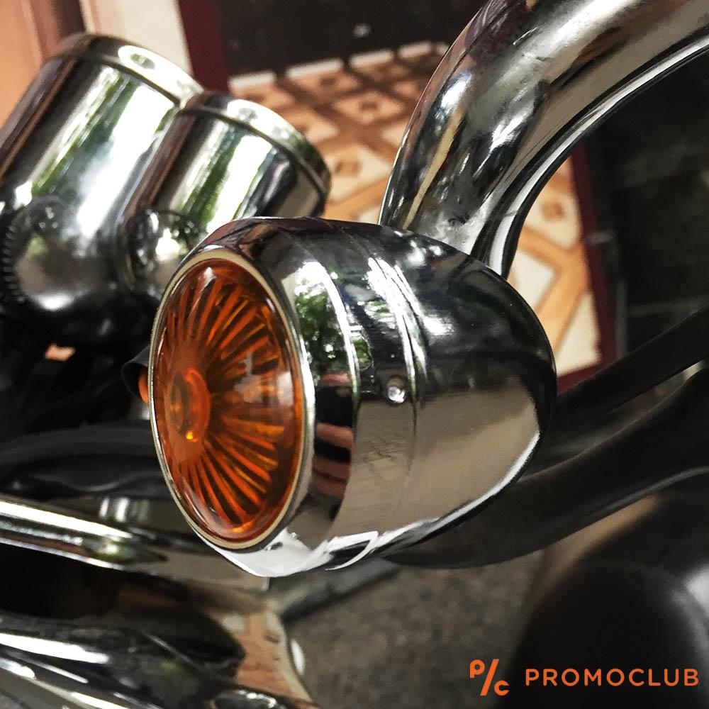 Класически метални мото мигачи, комплект 2 броя