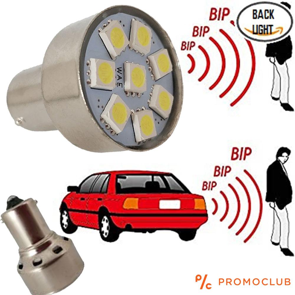 Авто LED крушка-аларма за движение на заден ход 12V 8 SMD LED