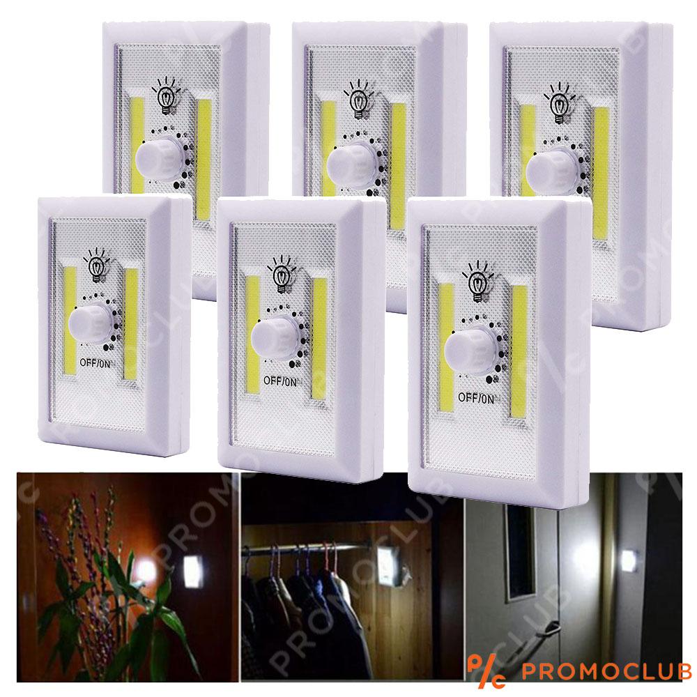 Преносима LED лампа - ключ на батерии с регулиране силата на светене