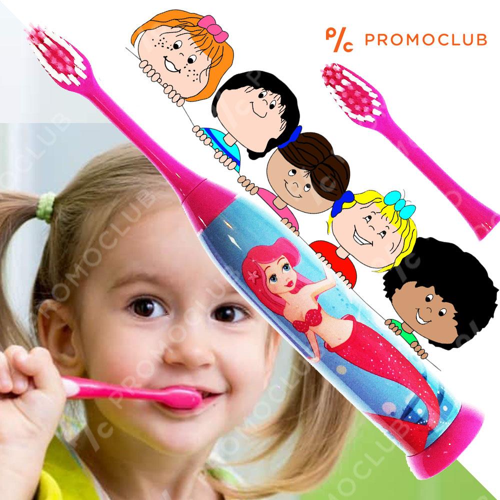 Детска ултразвукова елeктрическа четка за зъби ARIEL PINK с резервна глава SOFT