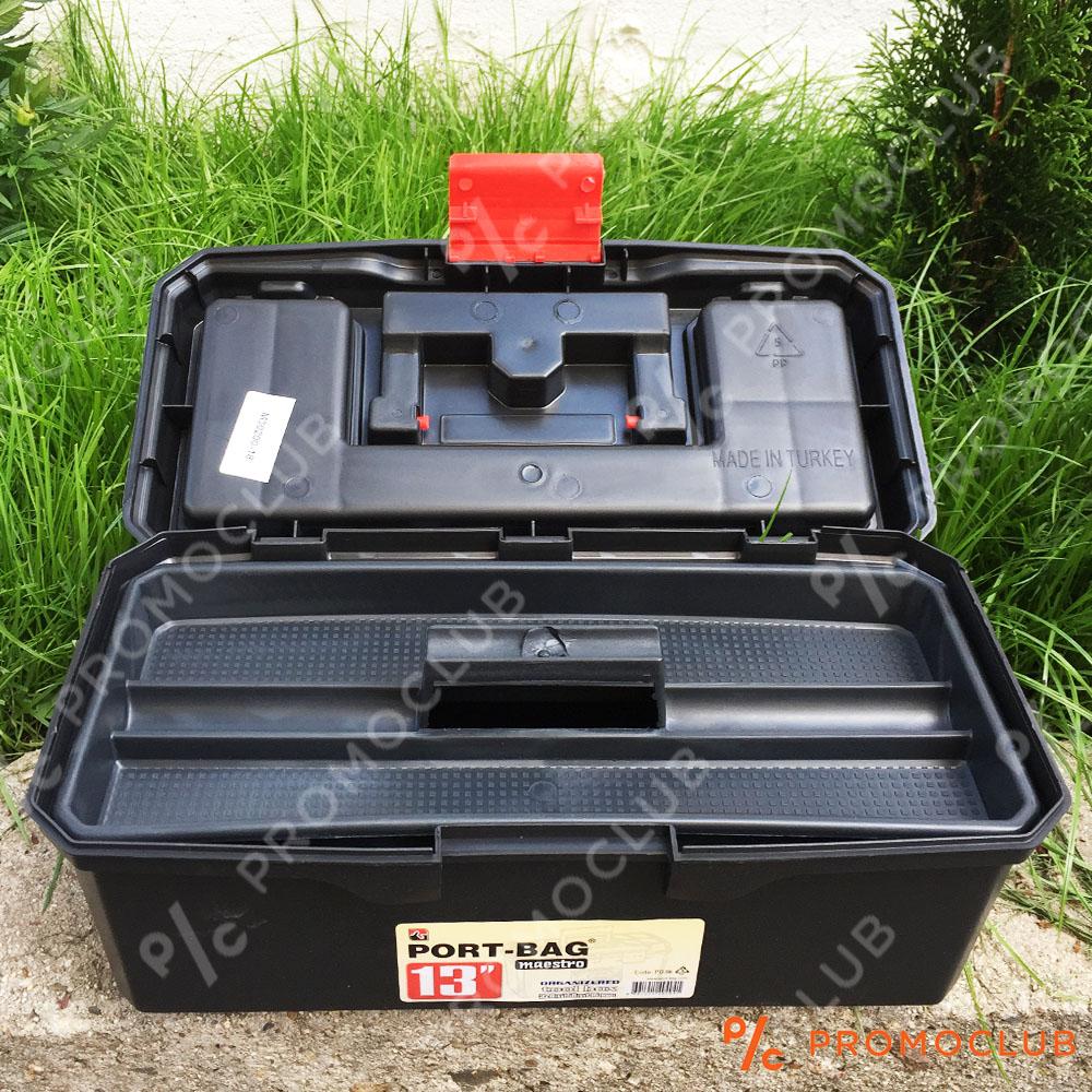 Професионален куфар за инструменти 19 инча, здрав, обемен, с множество отделеня и дръжка