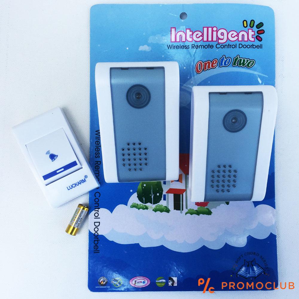 Два безжични звънеца с общ бутон, висок клас известяваща система ONE TO TWO DORBELL