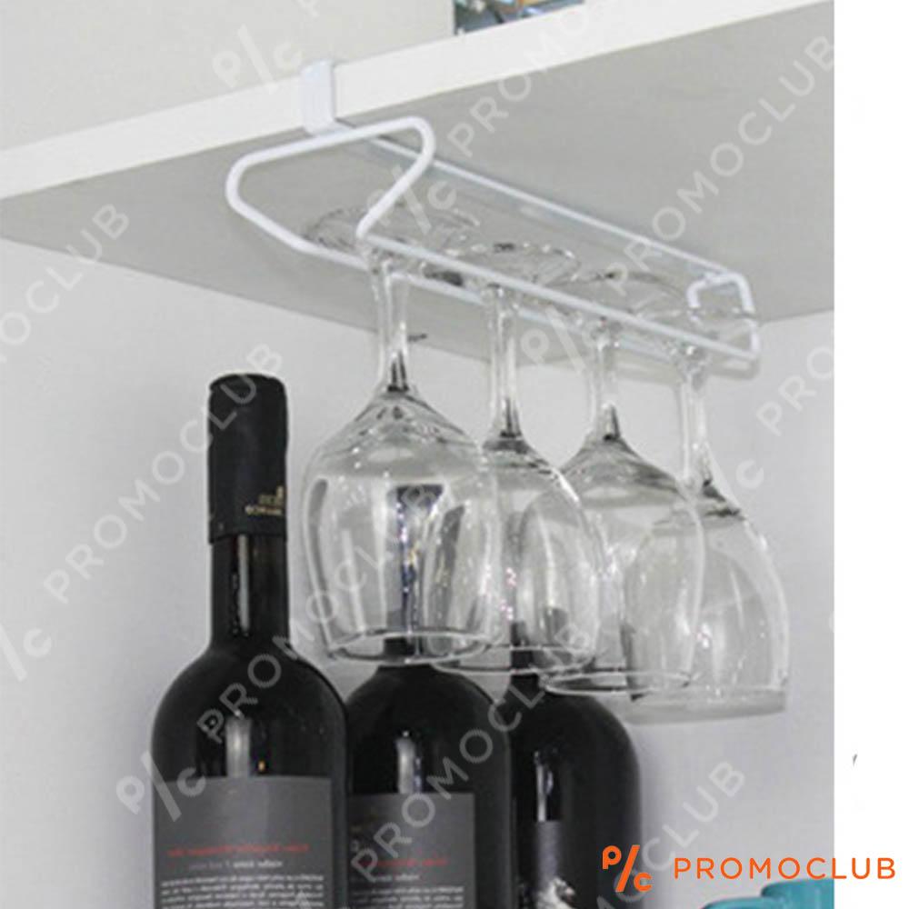 Висяща поставка за чаши за вино, бяла