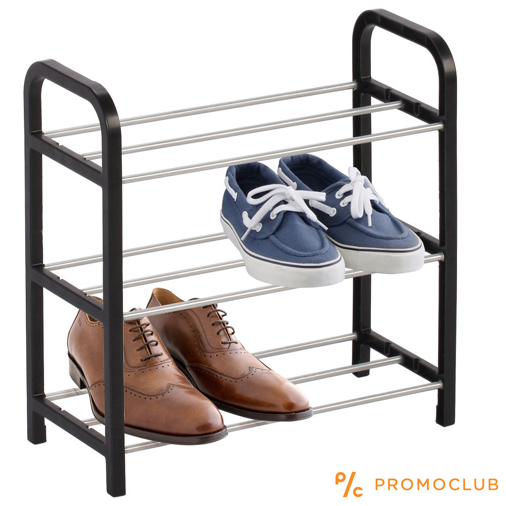 Три редов стелаж за обувки  SHOES RACK III BLACK