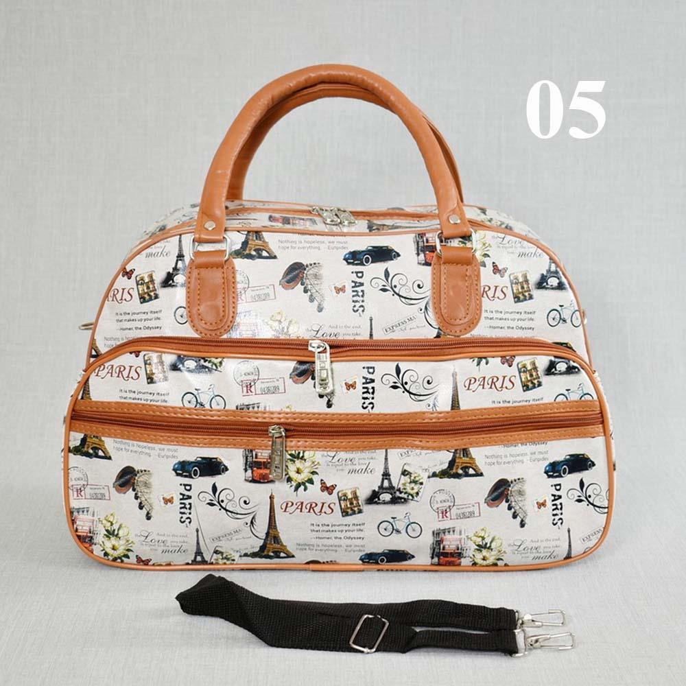 Лека пътна чанта TRAVEL LADY 31695 в 10 десена, еко кожа