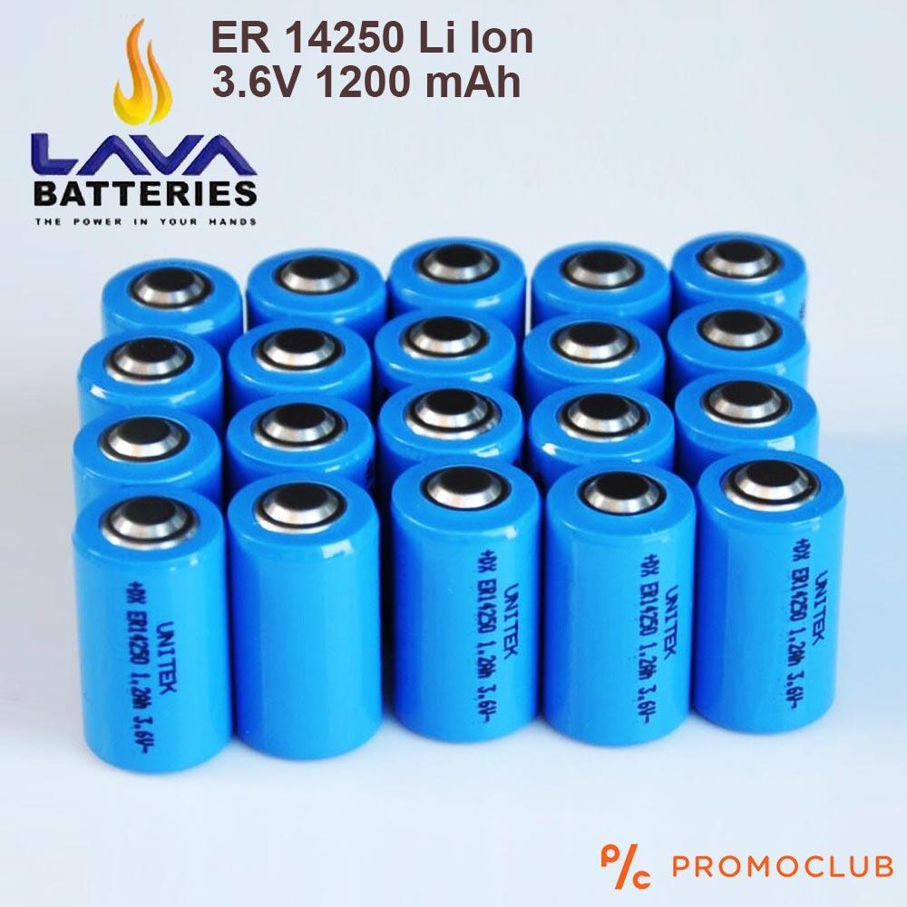 Li Ion ER14250 акумулаторна батерия LAVA висок клас 3.6V 1200 mAh, с пъпка