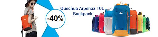 Унисекс раница QUECHUA ARPENAZ 10 SILVER-BLUE COMPACT,  10 литра, 12002