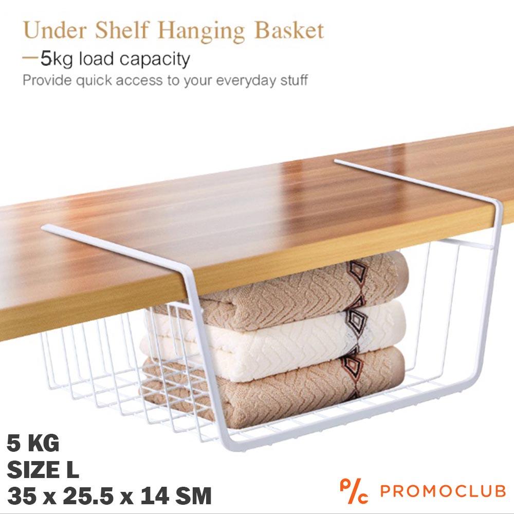 Закачаща се метална кошница органайзер HANGING SHELF L, 35 x 25 x 14 sm