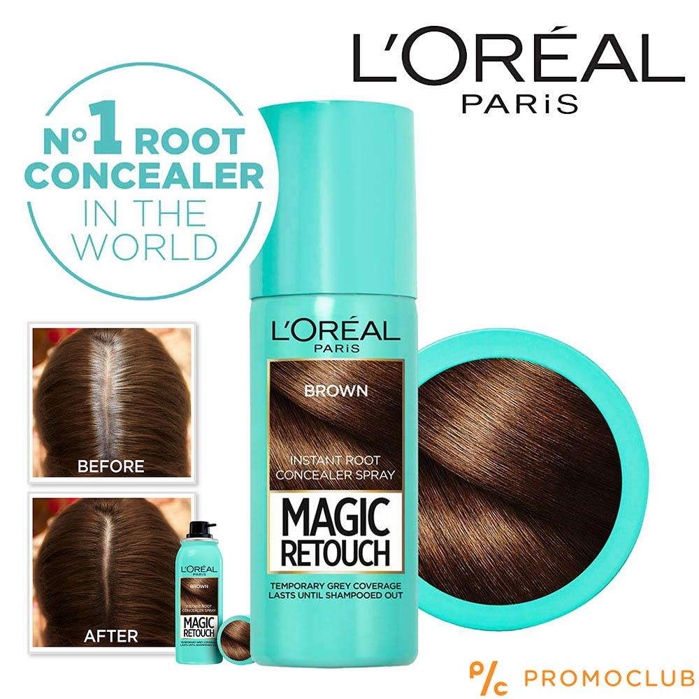Оцветяващ спрей за коса LOREAL Magic BROWN, кафяв, 75 мл., YOUR FIX