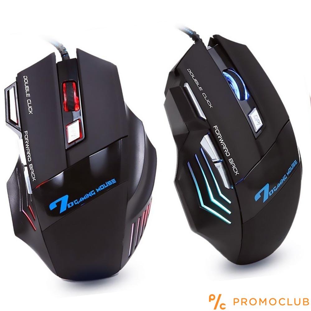 7D геймърска мишка X11, луксозна кутия, дълъг уплетен USB кабел смаксимална издръжливост