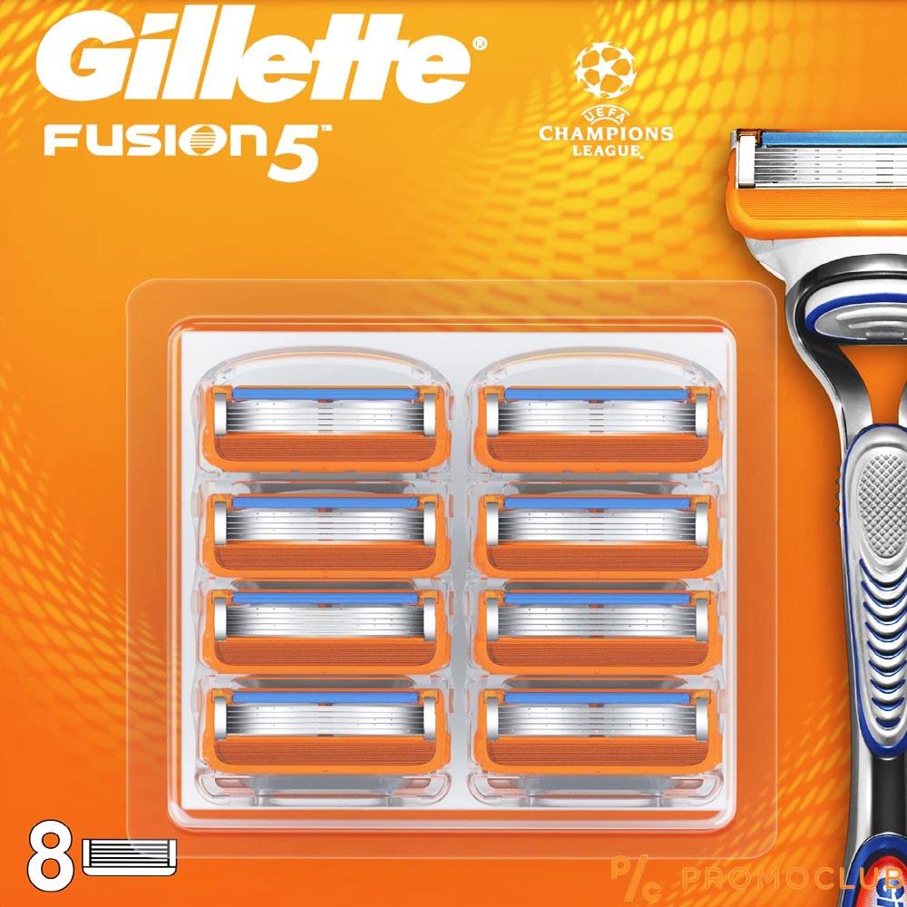 8 ножчета GILLETTE FUSION 5, XL пакет