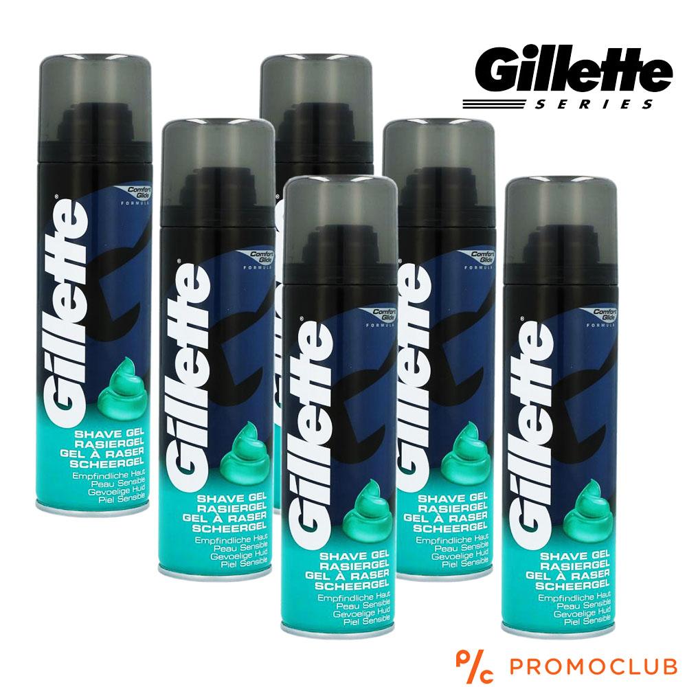 Гел за бръснене GILLETTE COMFORT GLIDE, за нормална кожа, ежедневен, 200 мл.