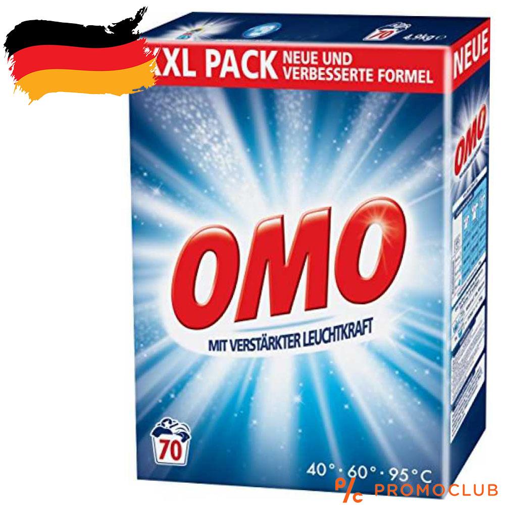 Немски перилен препарат за бяло мошинно пране OMO, 5.6 kg за 70 пранета