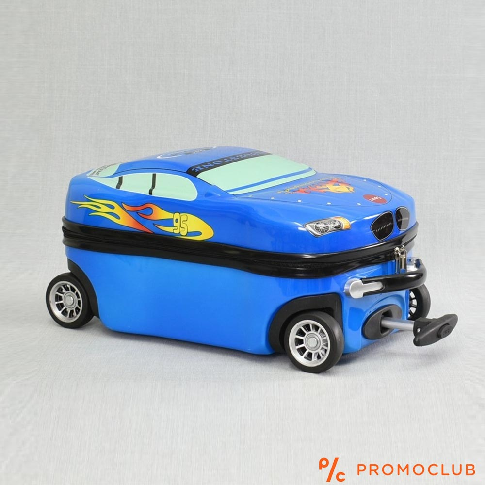 Детски BMW куфар  - количка 12000 BLUE, поликарбон, 30х51х 25 см