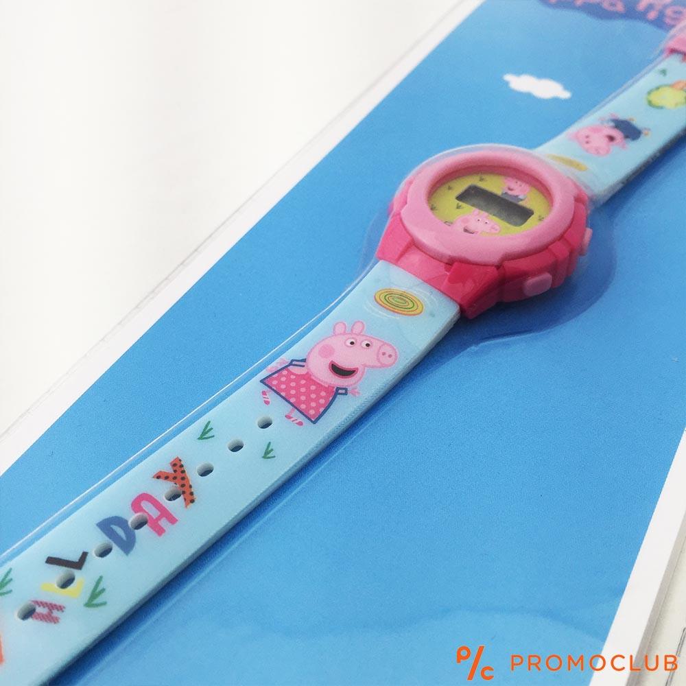Детски часовник ПРАСЕНЦЕТО ПЕПА, опростен, сигурен и защитен, 3+