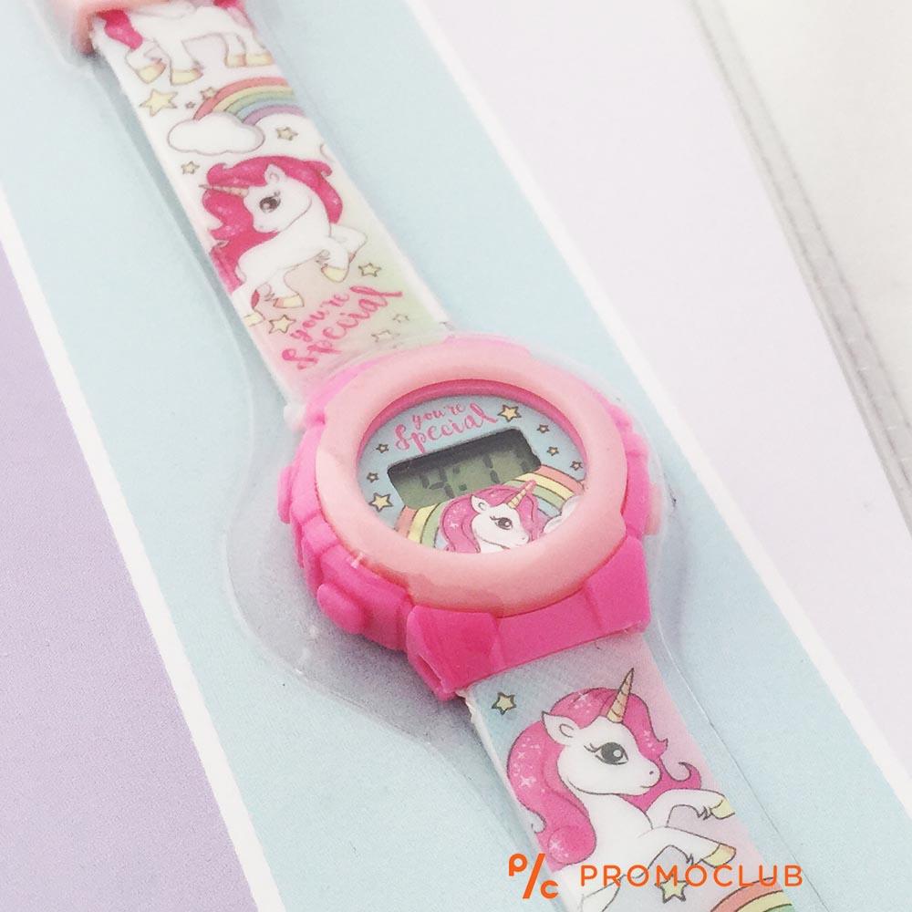 Детски часовник ВЪЛШЕБНИ ЕДНОРОЗИ, опростен, сигурен и защитен, 3+