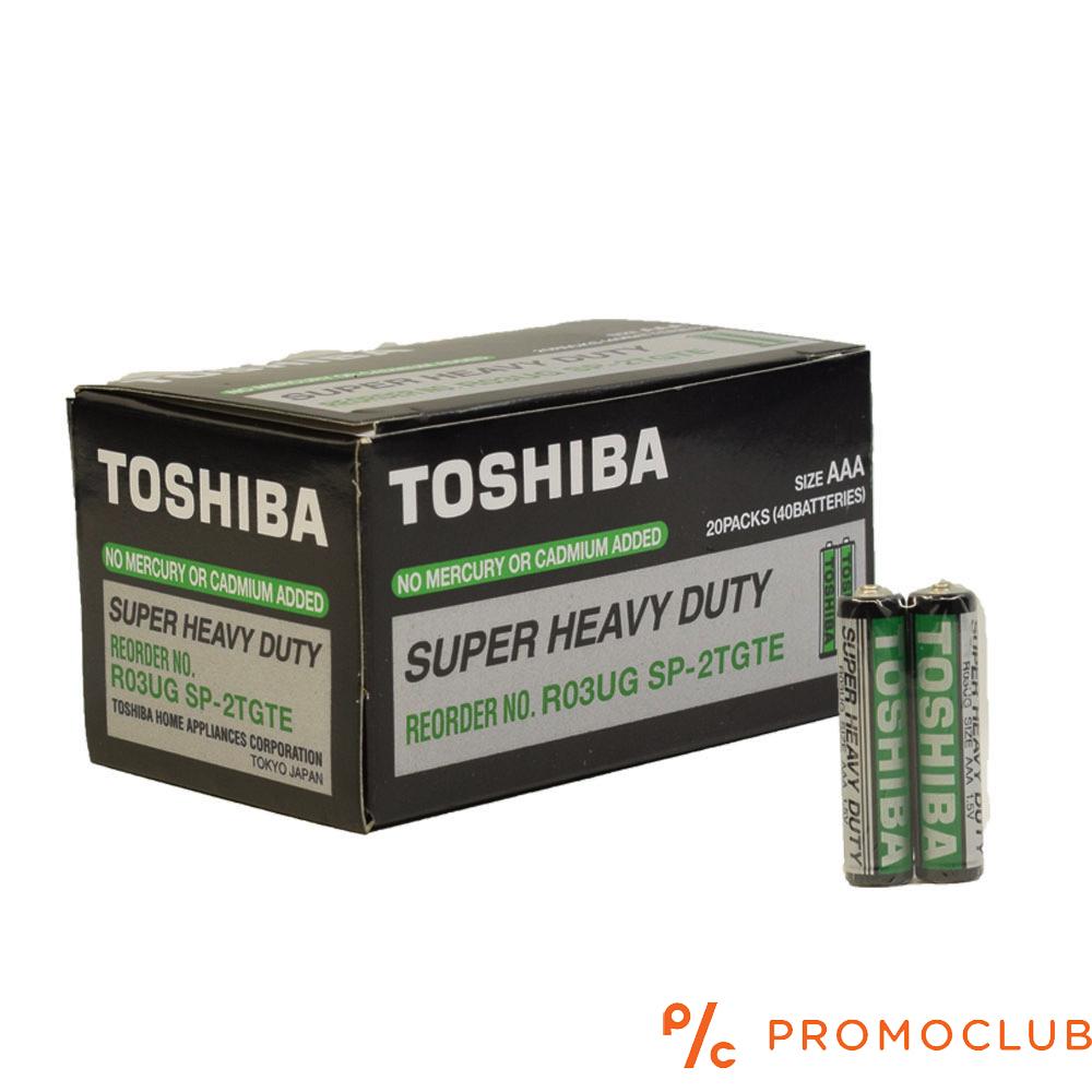 Кутия 40 батерии TOSHIBA Super Heavy Duty R03UG SP- 2TGTE Size AAA- усилени