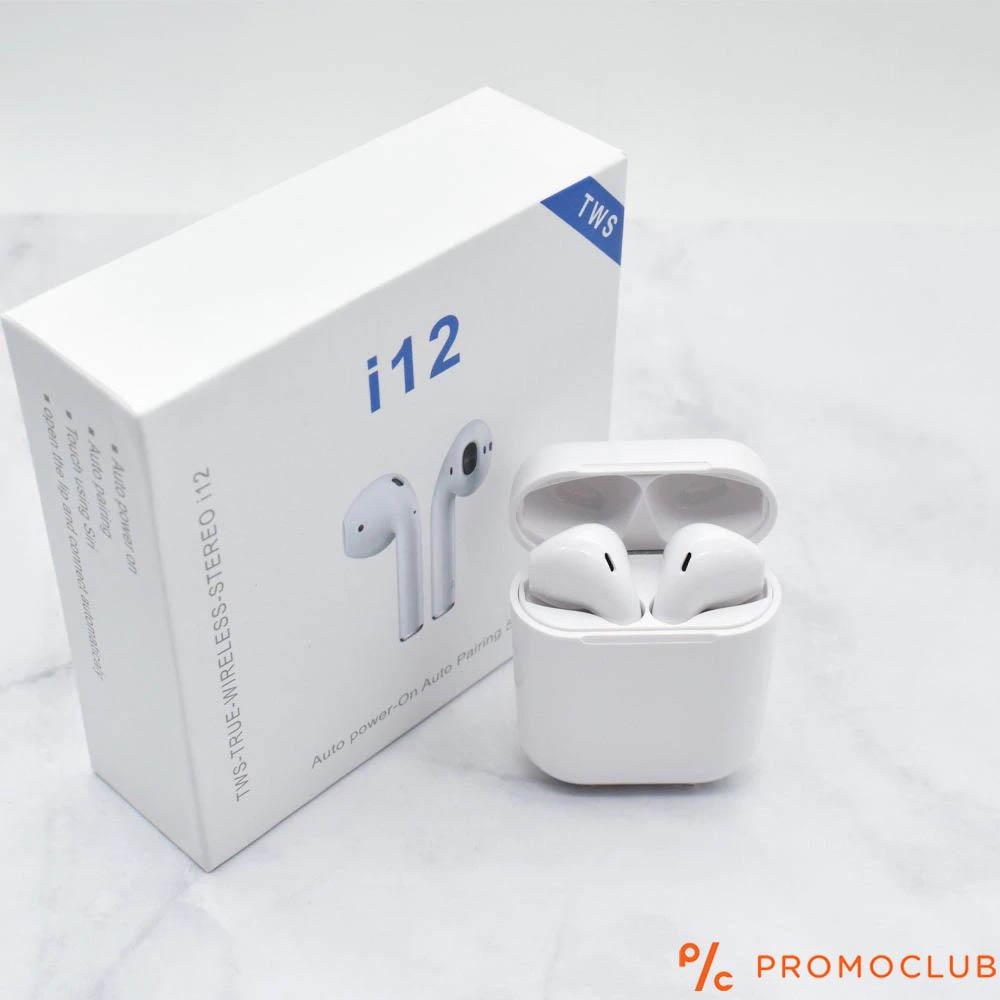 Безжични ТОП слушалки AirPods TWS- i12 със зареждаща кутия