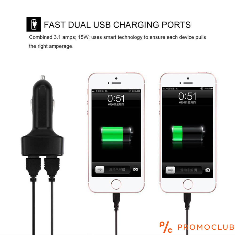 Двойно USB автозарядно с волтметър следи за зареждането на акумулатора