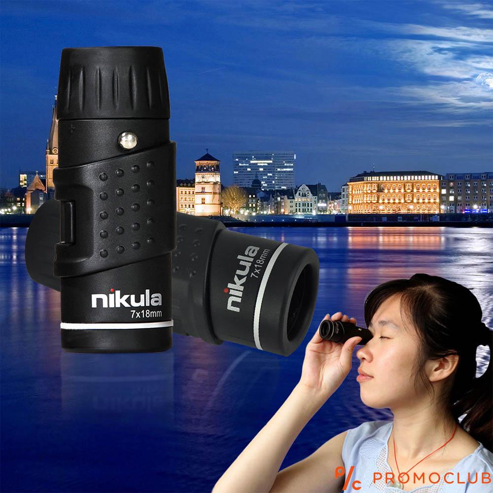 Мощен микро монокъл NIKULA AF 7x18 мм.