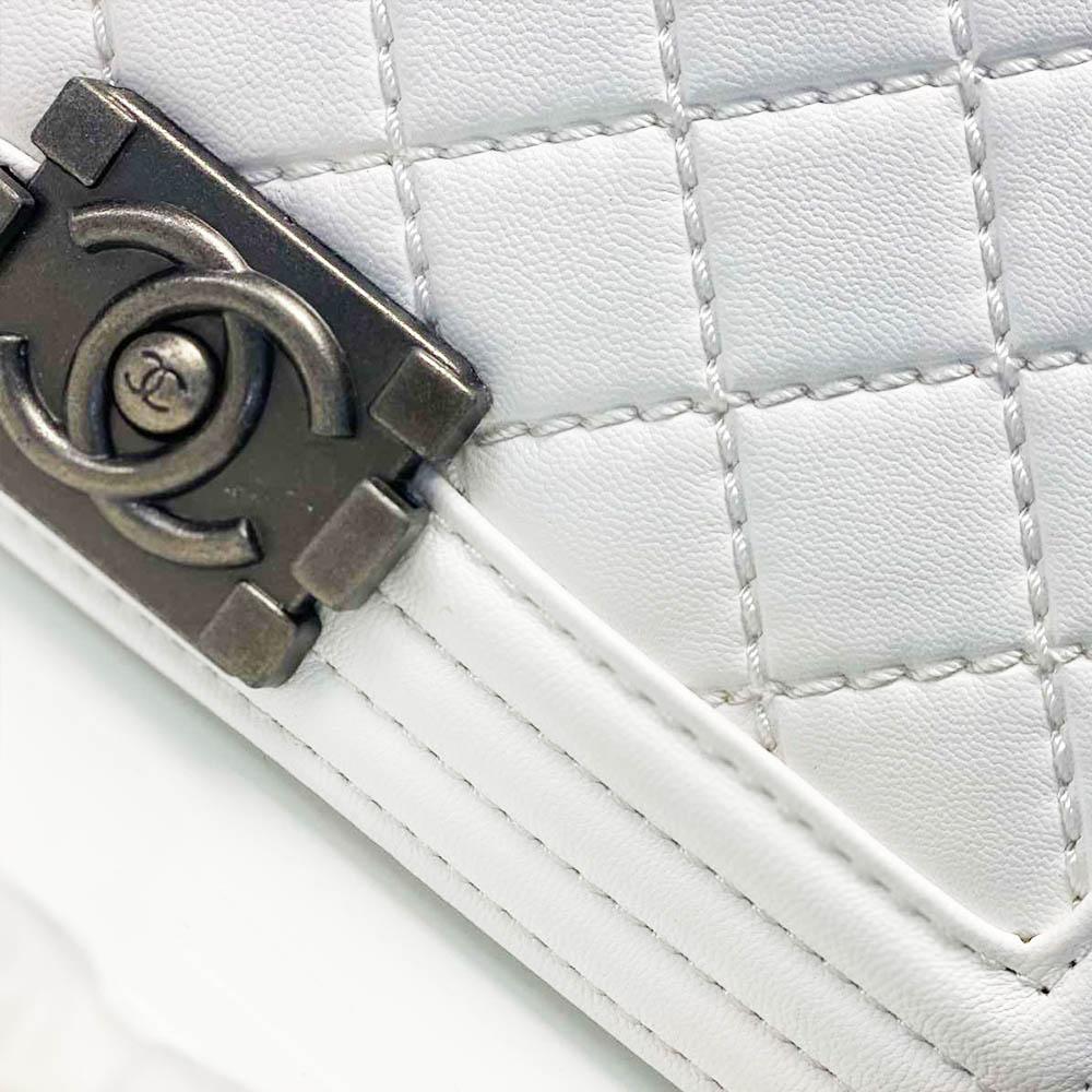 Дамска чанта ШАНЕЛ WHITE, S размер 22 х 14 х 11 см