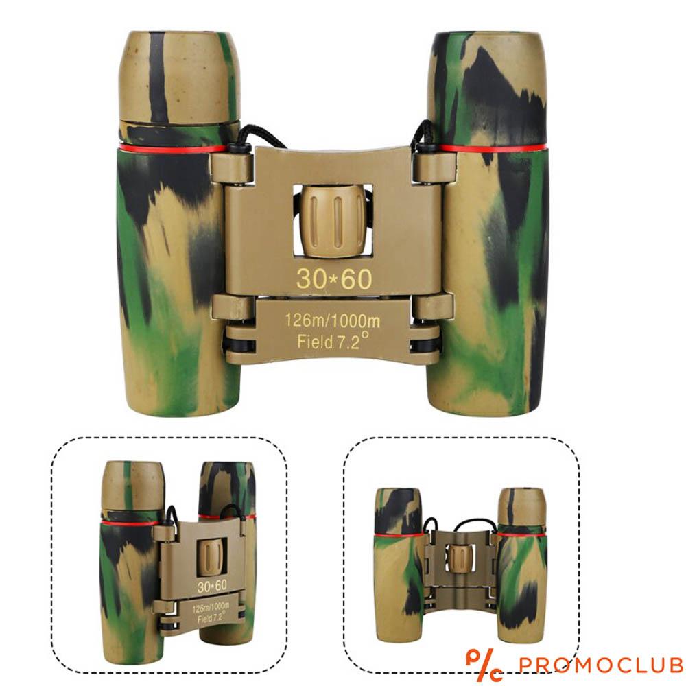 Компактен военен бинокъл 30×60, 12 см, увеличение 8Х