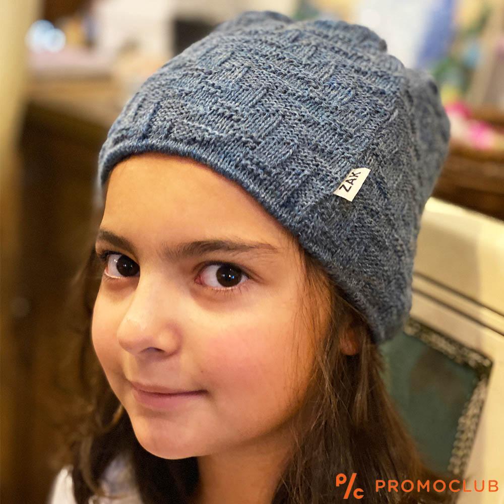 Елегантна зимна дамска шапка ZAK DREAM BLUE-GREY, 50% вълна