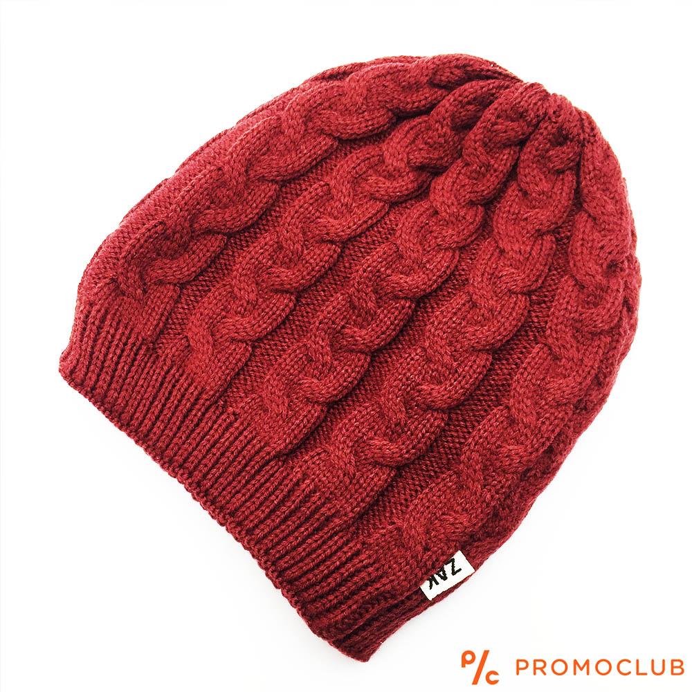 Елегантна зимна дамска шапка ZAK DREAM RED, 50% вълна