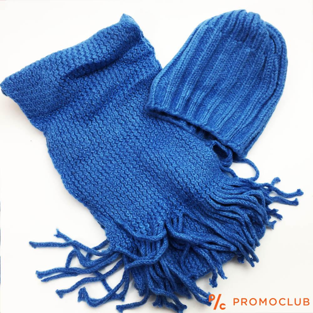 Комплект зимни шапка и шал ZAG BLUE, супер меки и нежни