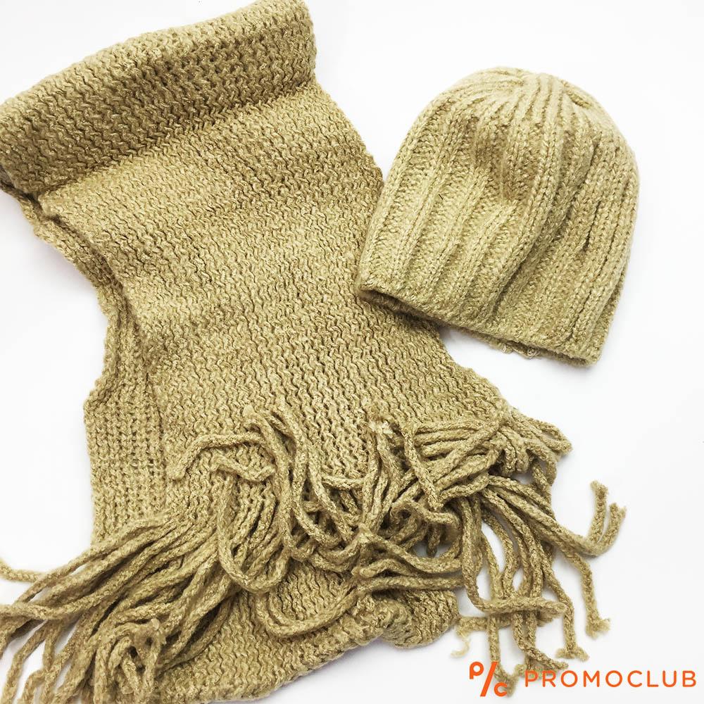 Комплект зимни шапка и шал ZAG GOLD, супер меки и нежни