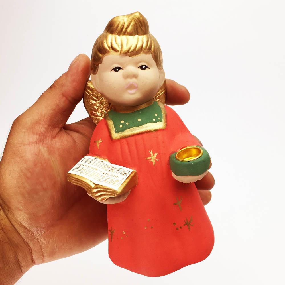 Керамична статуетка-свещник КОЛЕДНО ХИРУВИМЧЕ, матова повърхноста