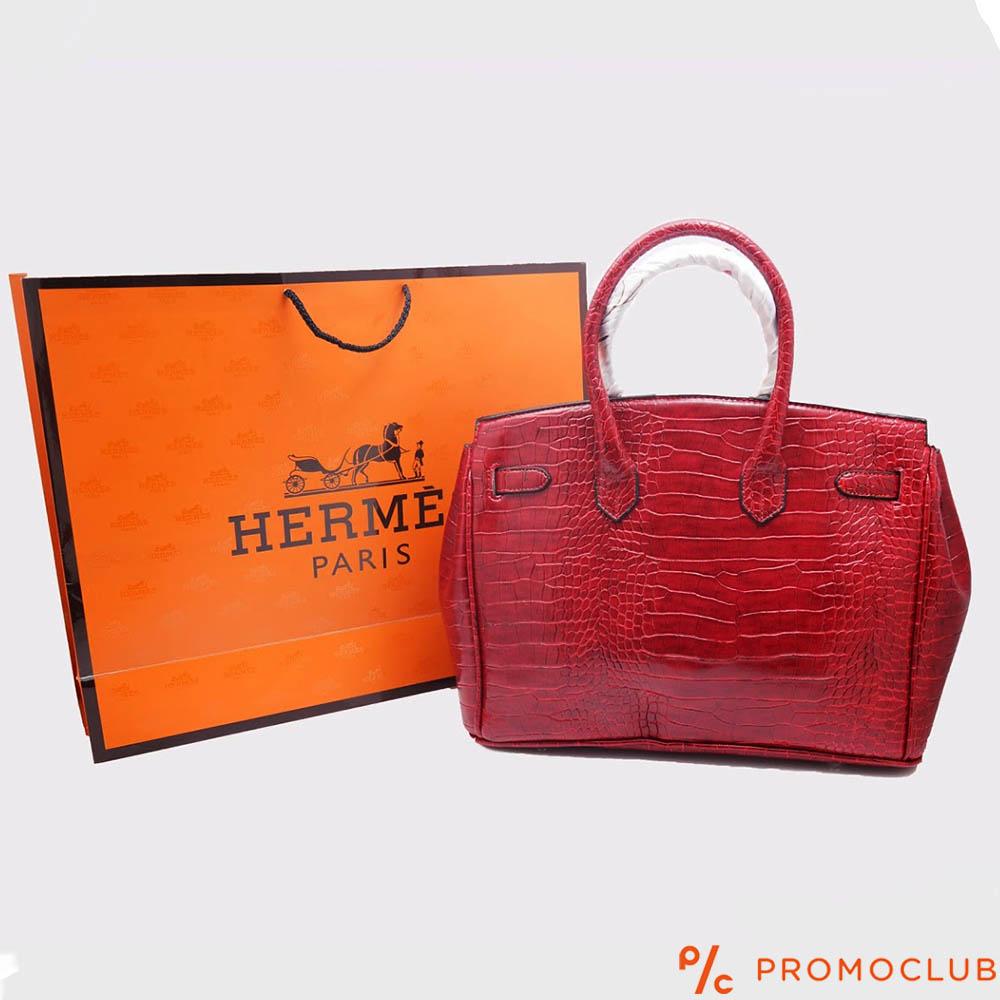 Дамска чанта HERMES- червена