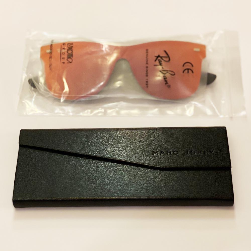 Слънчеви очила RAY BAN RB4388N RED 601S/6Q, с ПОДАРЪК спортен кожен калъф MARC JOHN